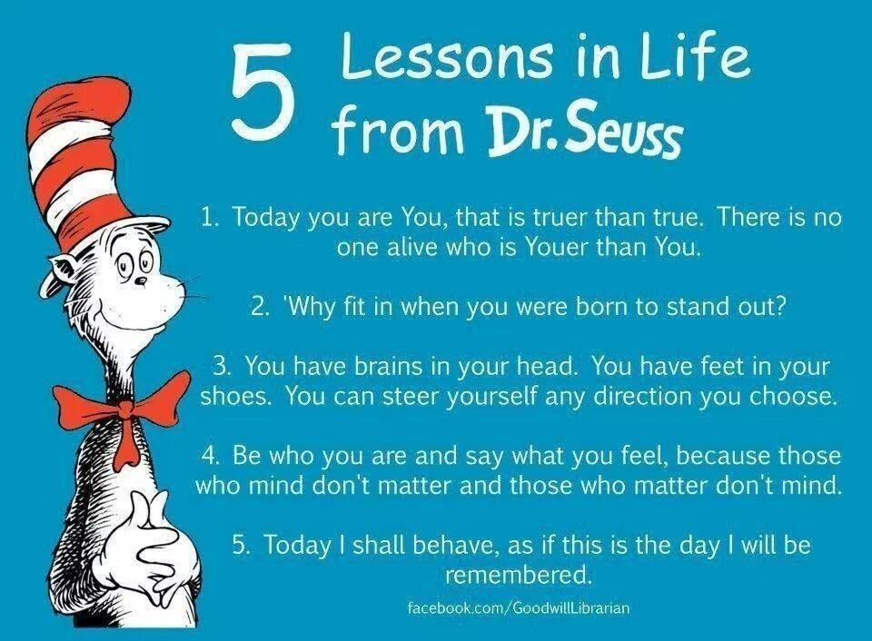 5 Lessons In Life From Dr Seuss The Aspirations Institute